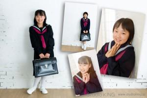 香川県三豊市・キング写真館で写す、入学記念写真