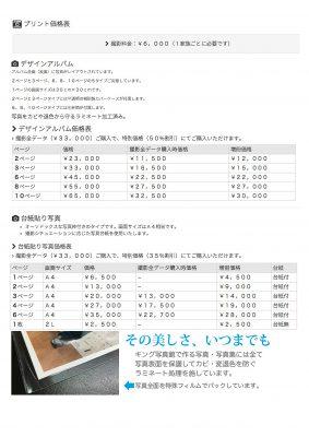 プリント価格表