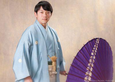 成人式・男性の羽織袴撮影