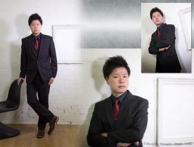 成人式・男性のスーツ撮影