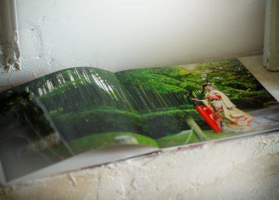 成人式・振袖デザインアルバムの見開きページ部分